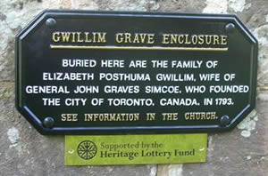Gwilliam Grave Enclosure restoration plaque