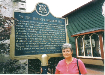 Plaque in the town centre of Niagara-on-the-Lake commemorating